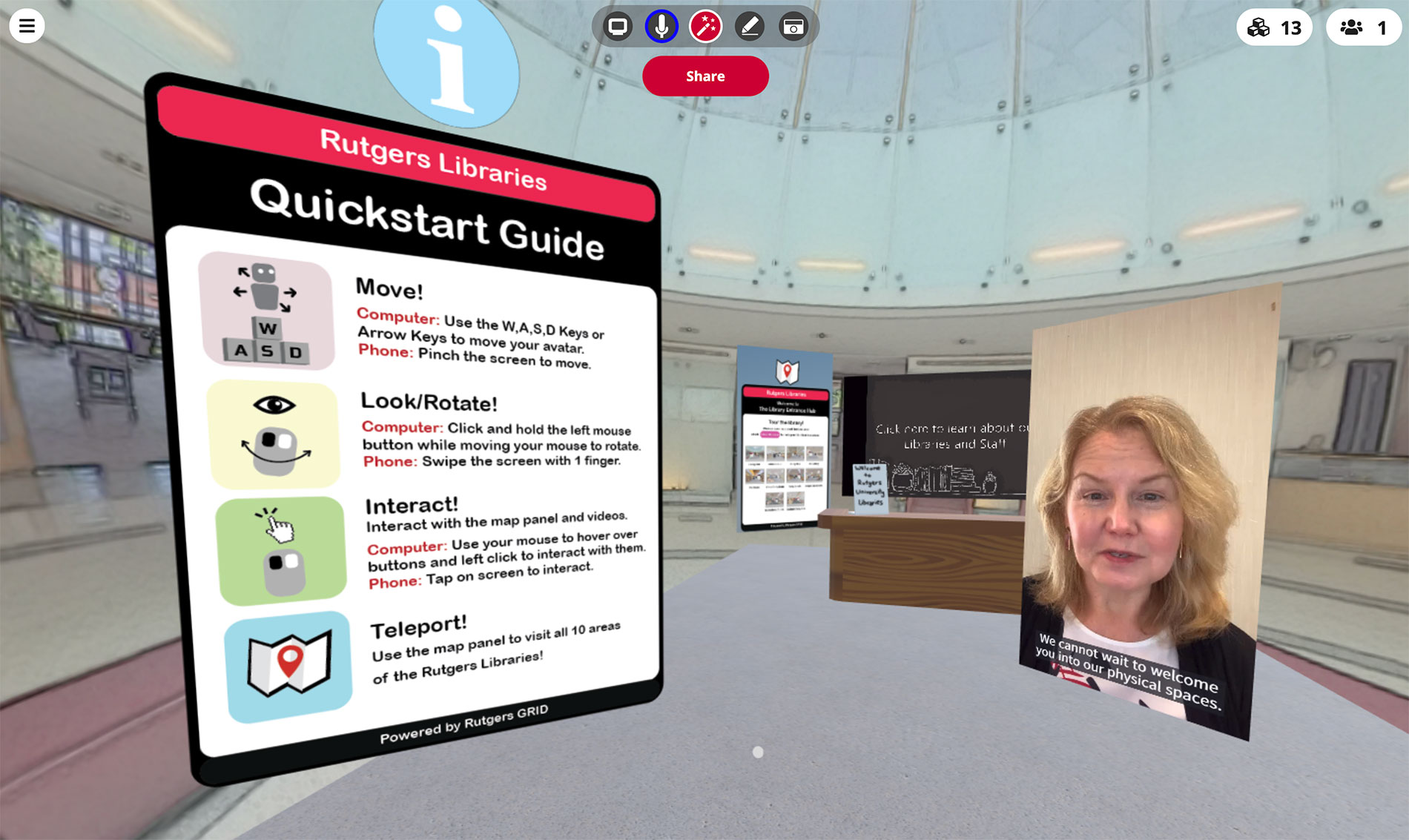 Virtual Rutgers Libraries Entry Point